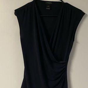 Woman's Anne Taylor black blouse size Sm
